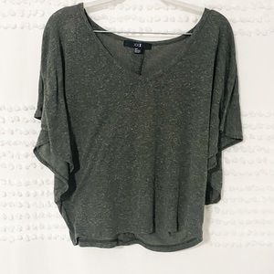 XXI green space dyed button back blouse s